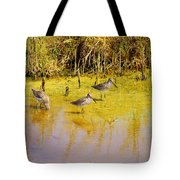 Long Billed Dowitchers Migrating Tote Bag
