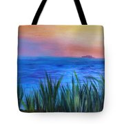 Long Island Sound Sunset Tote Bag