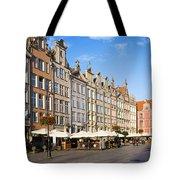 Long Market In Gdansk Tote Bag
