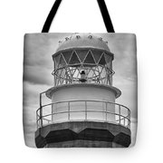 Long Point Lighthouse - Black And White Tote Bag