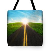 Long Road In Beautiful Nature  Tote Bag