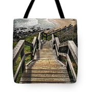 Long Stairway To Beach Tote Bag