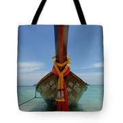 Long Tail Boat Thailand Tote Bag