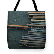 Long-tail Boats Anchored On The Chao Tote Bag