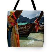 Long Tail Boats Tote Bag