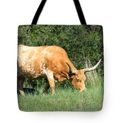 Longhorn Cow Tote Bag