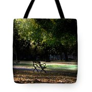 Lonley Park Bench Tote Bag