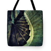 Looking Down An Old Staircase Tote Bag