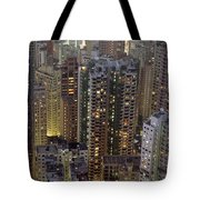 Looking Down On Crowded Residential Tote Bag