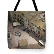 Looking Down On The Red Tile Rooftops Tote Bag