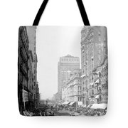 Looking Down State Street - Chicago - C  1897 Tote Bag