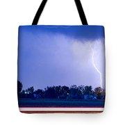 Looking East Lightning Strike Tote Bag
