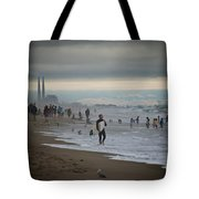 Looking South To Moss Landing Tote Bag