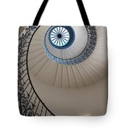 Looking Up At A Spiral Staircase Tote Bag