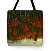 Loon In Opeongo Lake With Reflection Tote Bag