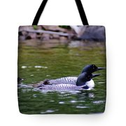 Loons With Twins 3 Tote Bag