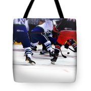 Loose Puck Tote Bag by Karol Livote