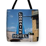Lorraine Hotel Sign Tote Bag
