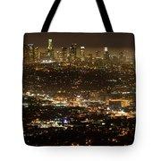 Los Angeles  City View At Night  Tote Bag