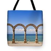 Los Arcos Amphitheater In Puerto Vallarta Tote Bag by Elena Elisseeva