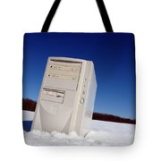 Lost Computer In Snow Tote Bag