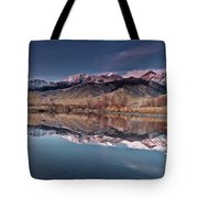 Lost River Range Winter Reflection Tote Bag