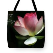 Lotus Flower Holiday Card Tote Bag