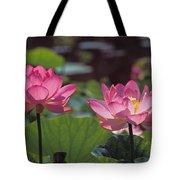 Lotus Pair 24m Tote Bag