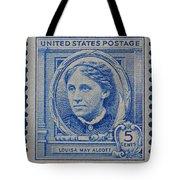 Louisa May Alcott Postage Stamp  Tote Bag