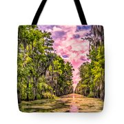 Louisiana Bayou Sunrise Tote Bag