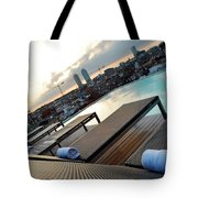 Lounging Poolside Tote Bag