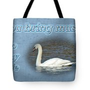 Love - I Love You Greeting Card - Mute Swan Tote Bag