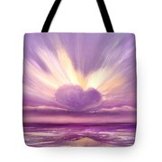 Love At Sunset Tote Bag