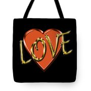 Love In Gold And Copper Tote Bag