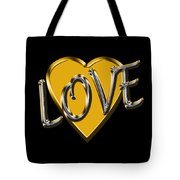 Love In Gold And Silver Tote Bag