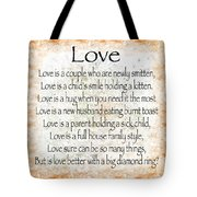 Love Poem In Orange Tote Bag