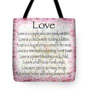 Love Poem In Pink Tote Bag