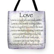 Love Poem In Purple  Tote Bag