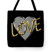 Love In Silver And Gold  Tote Bag