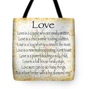 Love Poem In Yellow Tote Bag