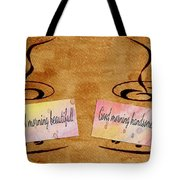 Love Morning Coffee Tote Bag