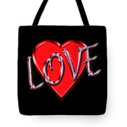 Love Pink And Red  Tote Bag