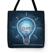 Love Word In Light Bulb Tote Bag