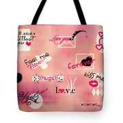 Love Words - Valentine's Card Tote Bag