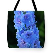 Lovely Larkspur Blue Tote Bag