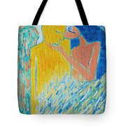 Loving An Angel Tote Bag by Ana Maria Edulescu