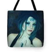Loving Blue Hair Tote Bag