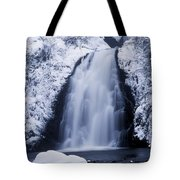 Low Angle View Of A Waterfall, Glenoe Tote Bag