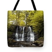 Low Angle View Of A Waterfall In A Tote Bag