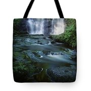 Low Angle View Of A Waterfall Tote Bag